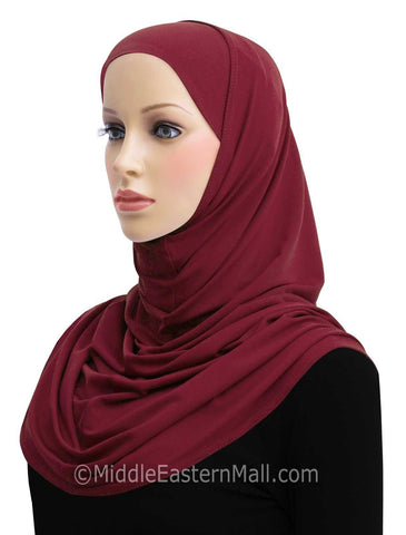 Wholesale 1 dozen  2 Piece Lycra Long Khatib Amira Hijab in 12 Colors