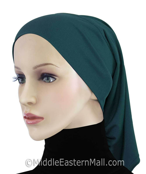 Khatib LYCRA Extra Long Hijab Tube Cap in # 1 Teal