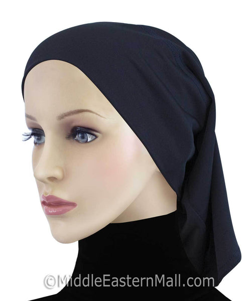 Khatib LYCRA Extra Long Hijab Tube Cap in black