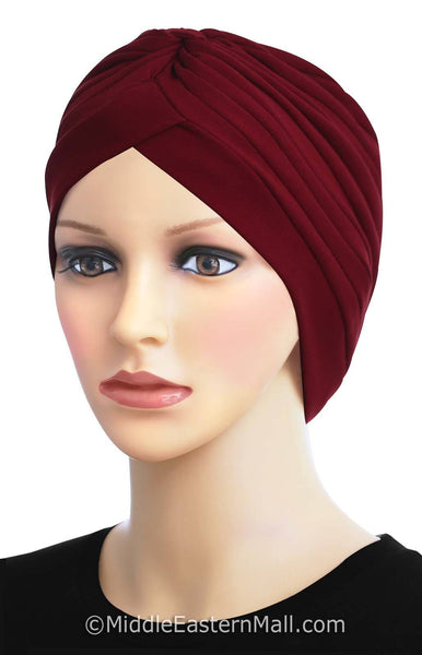 Khatib Cotton Classic Turban # 1 Burgundy