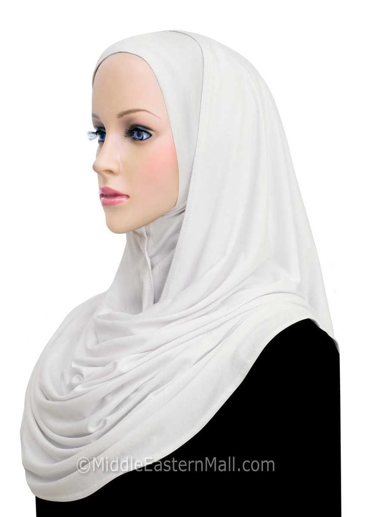 Wholesale 500 Cotton Jersey Khatib Hijab Wraps in White