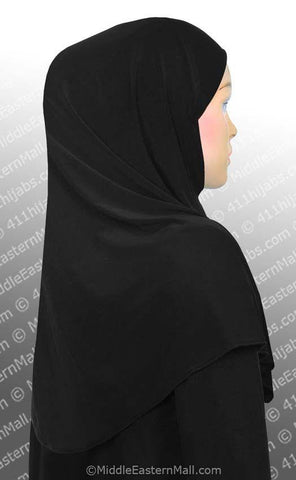 Black Khimar Lycra Hijab High Quality - MiddleEasternMall