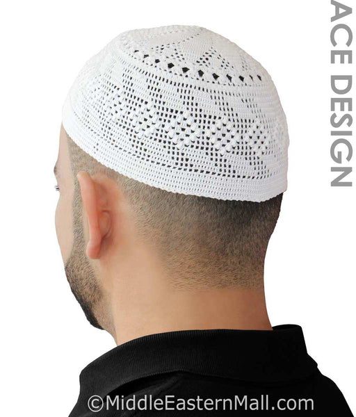 Men's Kufi Beanie Topi Taqiya Skull Cap Islamic Muslim prayer hats cotton takke