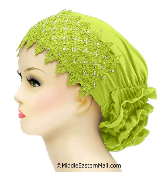 Lace Snood Hijab Caps