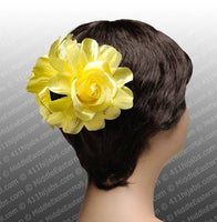 Large Double Flower Hair Claw