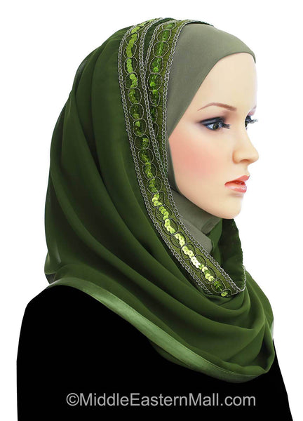 Wholesale Set of 6 Luxor Khatib Kuwaiti Mona Hijab in 6 different Colors
