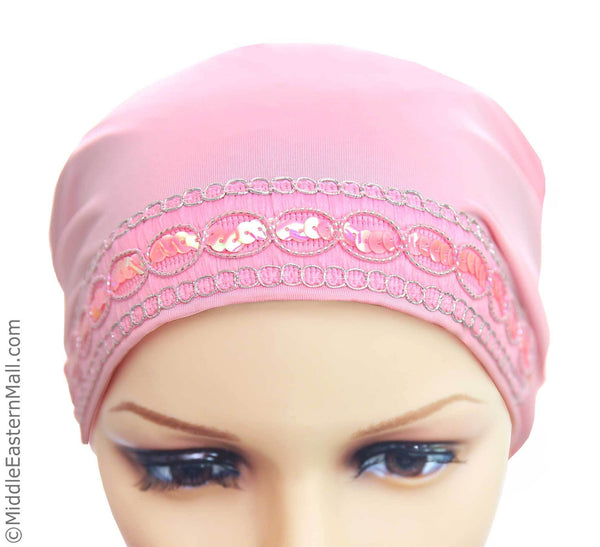 Luxor LYCRA Extra Long Tube Hijab Cap front view