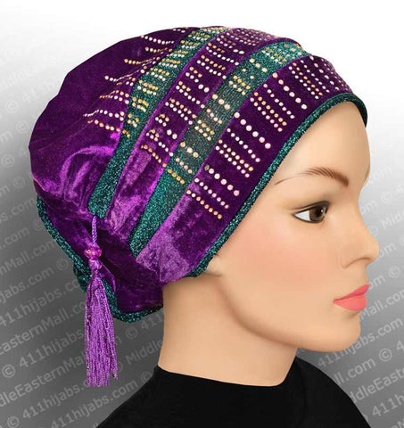Medici Fashion Hijab Cap in #1 Purple - MiddleEasternMall - 1