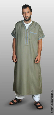 Men's Moroccan Thobe - #6 Sage size LARGE 58 - MiddleEasternMall