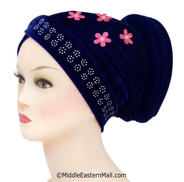 FREE Velvet Venetian Turban Hijab Caps with paid S&H, only 1 per order