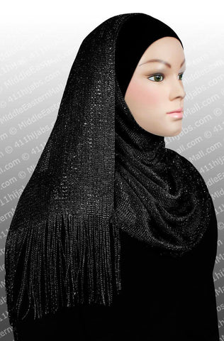 Noor Shawl #1 Black - MiddleEasternMall