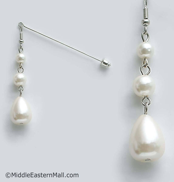 Pearl Drop Hijab Pin