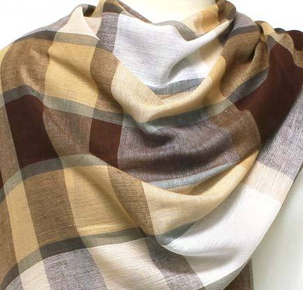 Women's Plaid Long Shawl Hijab Headscarves