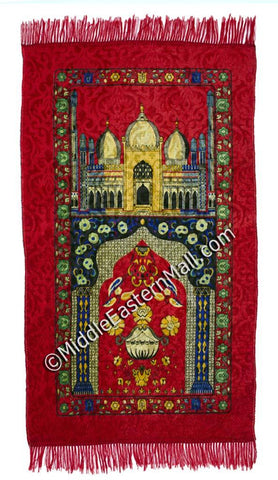 Adult Prayer Mat # 7 Red