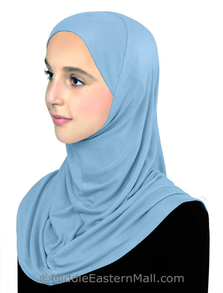 Pre-Teen Girls Instant Hijab Cotton One piece Amira Head Scarf