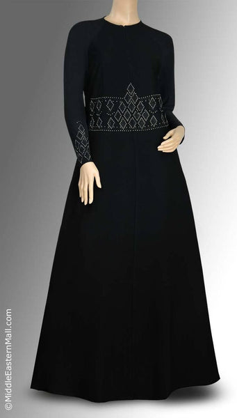 Byzantine Iman Abaya in Silver Stones SIZE XSMALL#1 - MiddleEasternMall - 1
