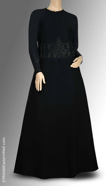 Byzantine Iman Abaya All Black Studs in SIZE SMALL#2 - MiddleEasternMall - 1