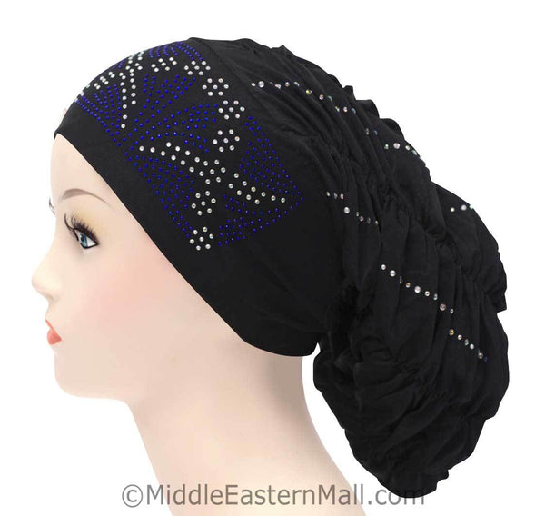 Royal Snood Lycra Hijab Cap Black Rebel Design
