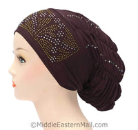Royal Snood Lycra Hijab Cap Brown Rebel Design