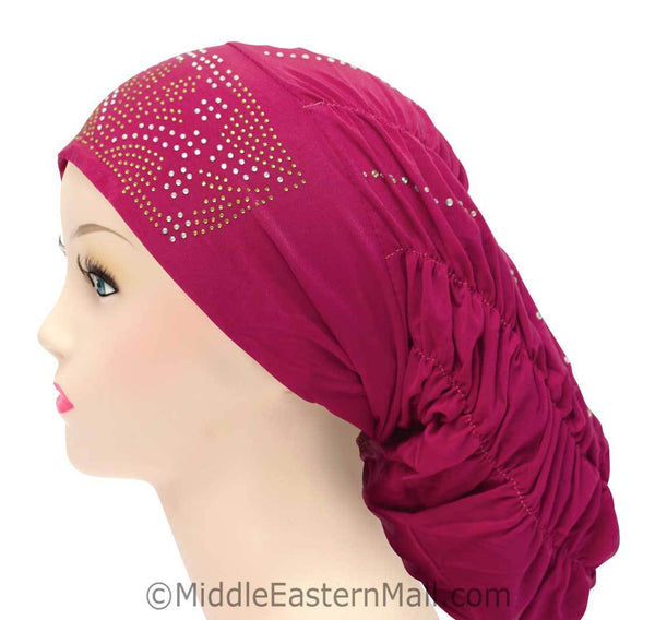 Royal Snood Lycra Hijab Cap Magenta Rebel Design