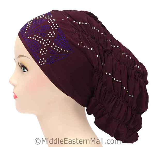 Royal Snood Lycra Hijab Cap Maroon Rebel Design