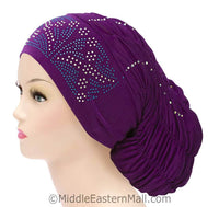 Royal Snood Lycra Hijab Cap Purple Rebel Design