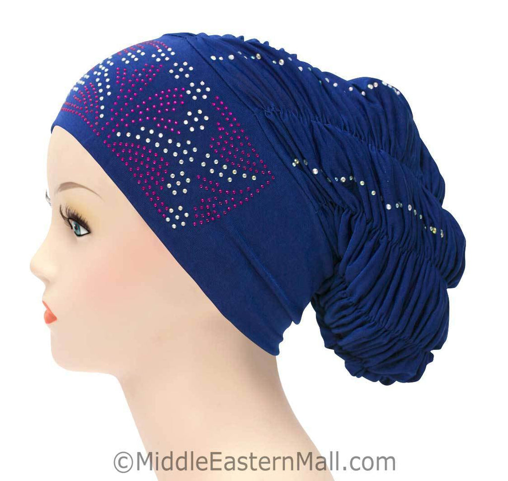 Royal Snood Lycra Hijab Cap Royal Blue Rebel Design