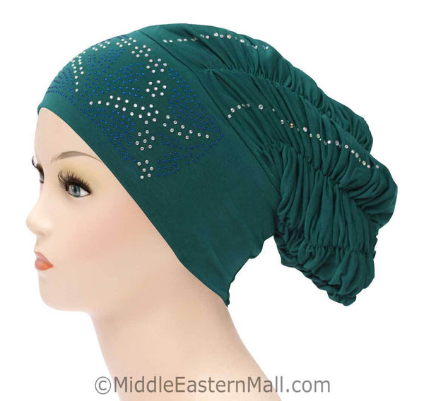 Royal Snood Lycra Hijab Cap Teal Green Rebel Design