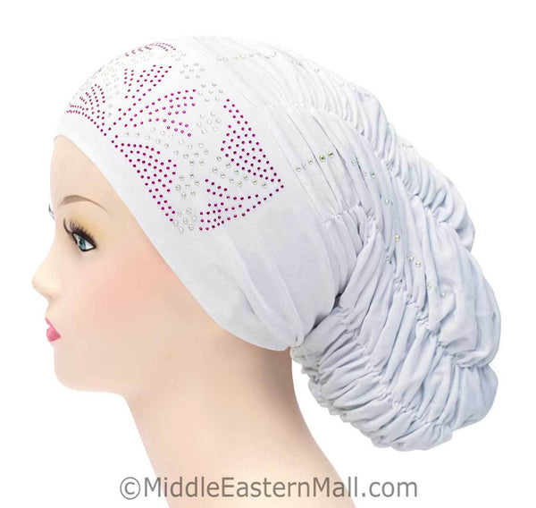 Royal Snood Lycra Hijab Cap Whie Rebel Design