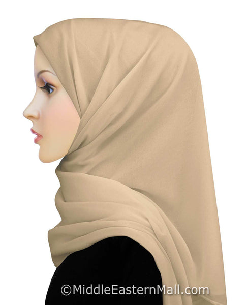 Salma Chiffon Square Scarf Available in 12 Colors