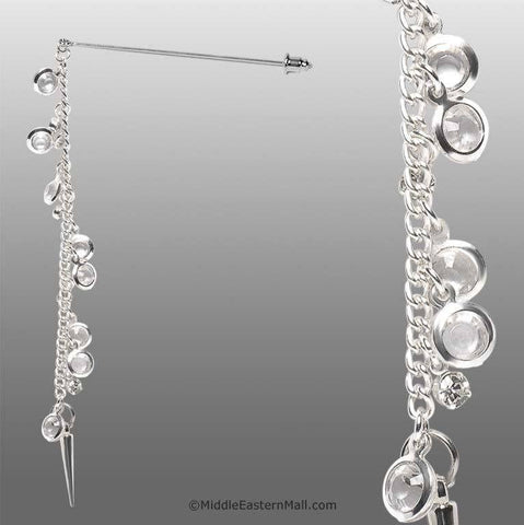 Serene Hijab Pin  # 7 in Clear White - MiddleEasternMall