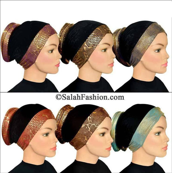 Wholesale Set of 6 Venetian Turban Hijab Caps