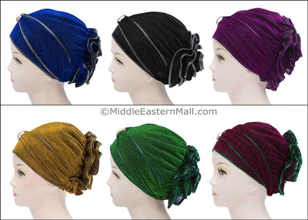 Wholesale Set of 6 Small Dazzle Hijab Caps in 6 colors