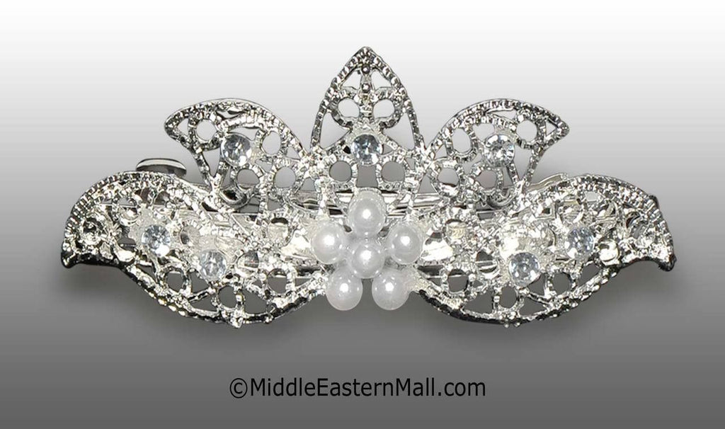Large Silver-Tone Barrette - MiddleEasternMall