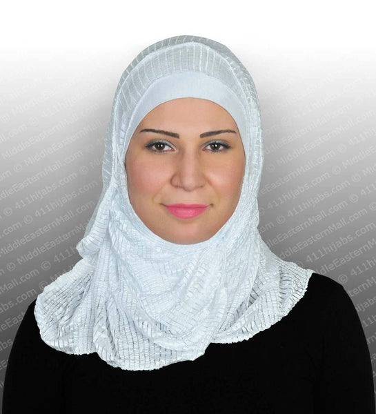 Snow White Stretchy Ribbed Shawls - MiddleEasternMall