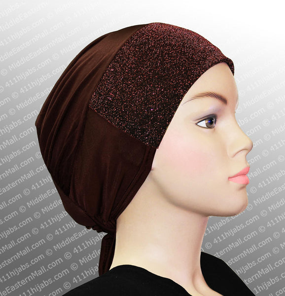 Sparkle Hijab Caps with Ties Available in 18 Colors