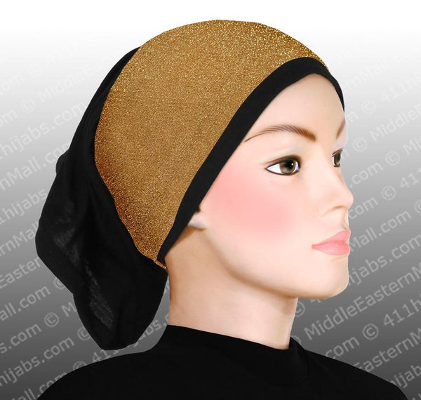 Sparkle Hijab Headbands in antique gold