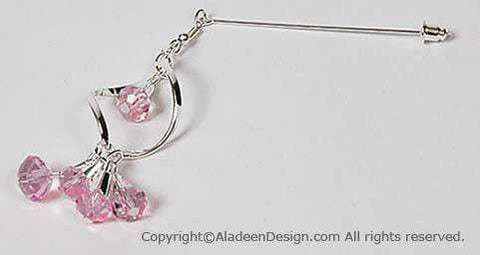 Spiral Hijab Pin # 1 In Pink - MiddleEasternMall