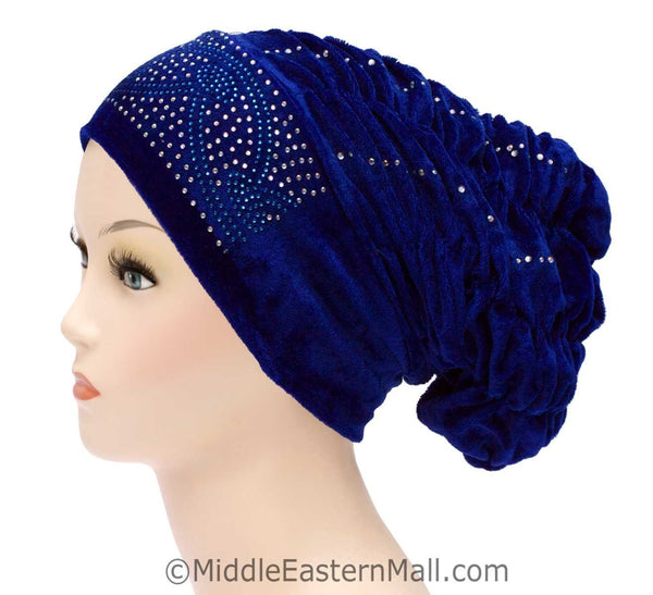 Wholesale Set of 4 Velvet Royal Snood Caps in 4 different colors