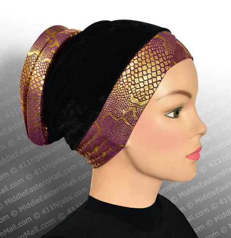 Venetian Volumizer Hijab Cap #12 Purple - MiddleEasternMall - 1