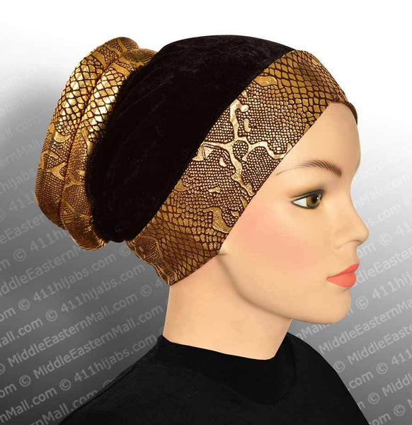 Venetian Turban Cap in Brown