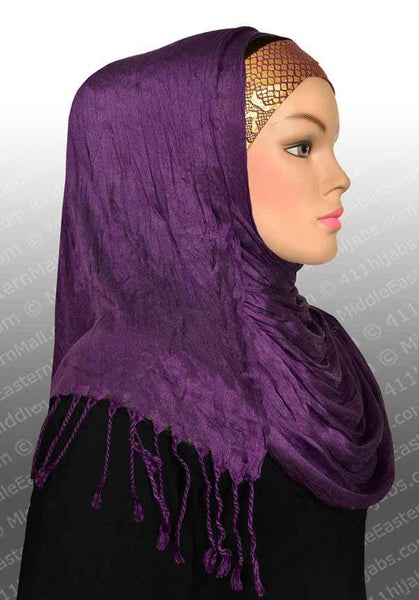 Large Cotton Silk Shawl in #1 Black - MiddleEasternMall - 2