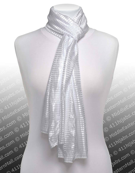 Snow White Stretchy Ribbed Shawls