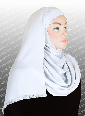 Cotton Twill Shawl White - MiddleEasternMall