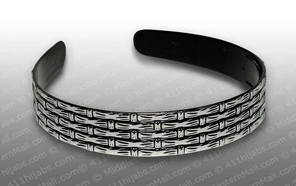 silver tone Fashion Hair Headbands with bamboo design