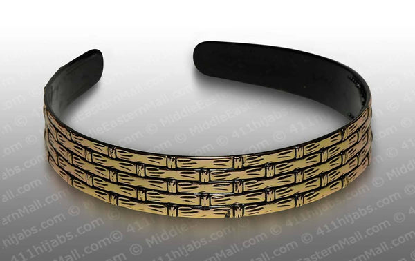 Fashion Headband in Goldtone Bamboo Design #3 - MiddleEasternMall