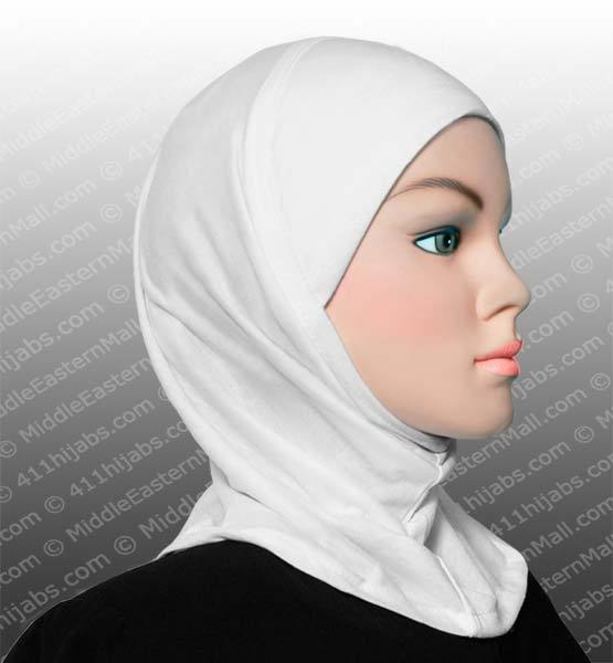 white Worry-free Underscarf Cap