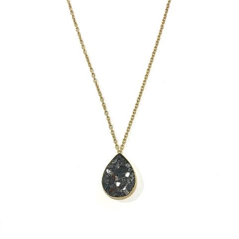 Baroque Pearl, Black Diamond and Tanzanite Necklace