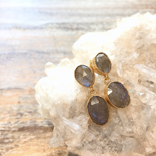 Everyday Labradorite Earrings