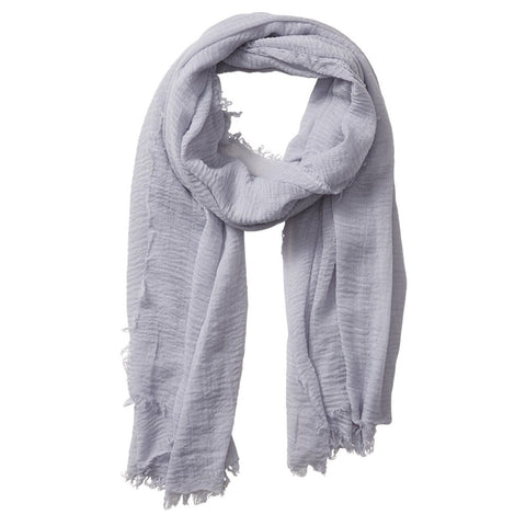 Grey Tiny Stripe Scarf